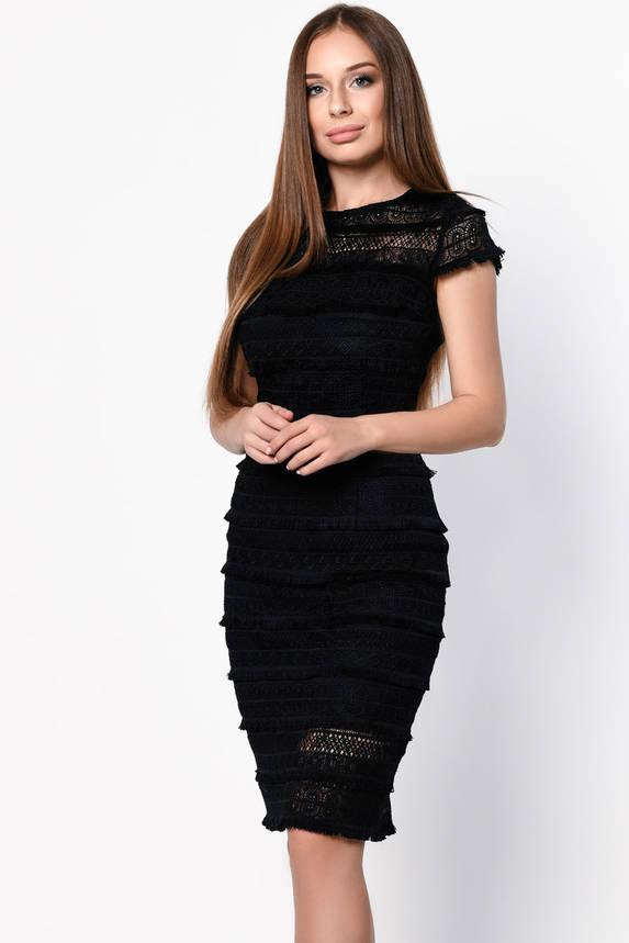 Коктейльное платье с бахромой черного цвета, фото 2