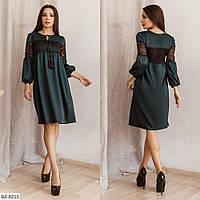 Нарядное платье с гипюровыми вставками р-ры 42-46 арт 169