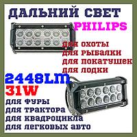 18W EP6 SP Светодиодные фары раб. света WL B1 36W Spot PHILIPS Дальний свет, фото 1