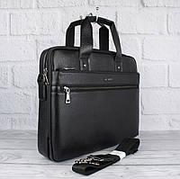 Сумка мужская для документов, портфель Blsido 9002-6 черный, 39*30*9 см