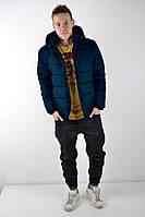 Мужская зимняя куртка синяя, фото 1