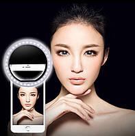 Светодиодное селфи-кольцо с USB-зарядкой Selfie Ring Light Черный