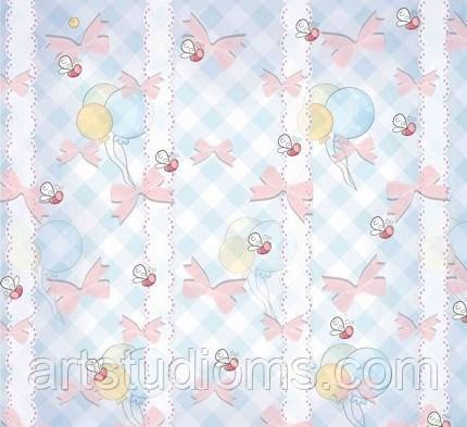 """Дизайнерский картон текстурный """"шарики 2""""  30х30см  Baby Shower ЕК"""