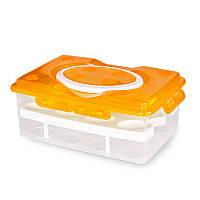 Контейнер для хранения яиц (24 шт), желто-оранжевый, Термосы и бутылки, Термоси та пляшки, Контейнер для зберігання яєць (24 шт), жовто-оранжевий