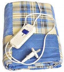 Электропростынь двуспальная ТРИО 02102 150х120 см, синий