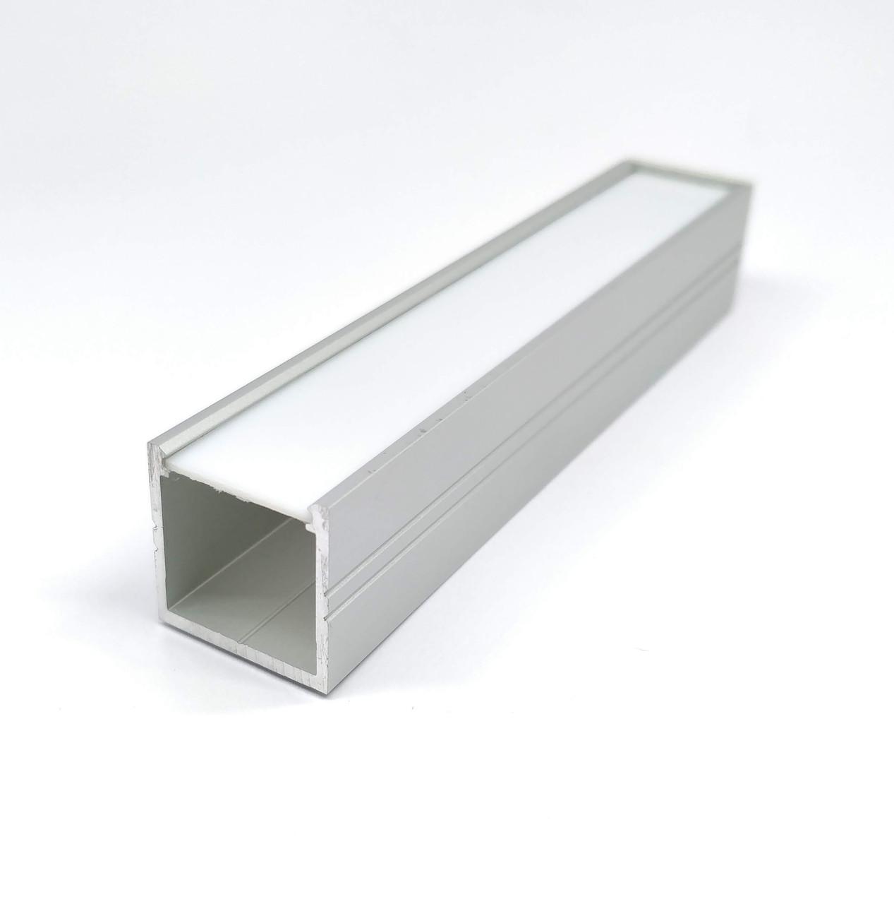 Профиль алюминиевый с рассеивателем для LED ленты 18x18 lp 1818
