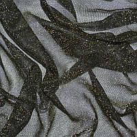 Трикотаж черный с золотым люрексом ш.110 ( 14306.003 )