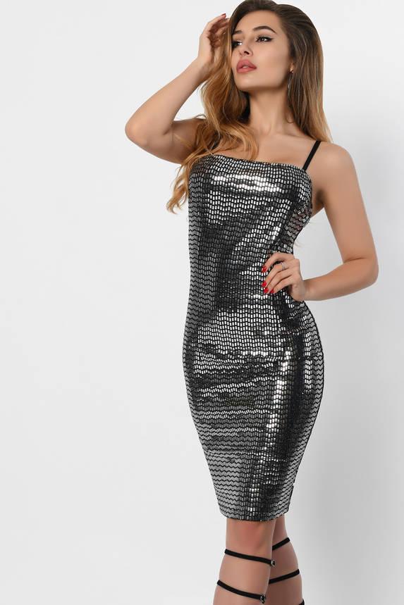 Блестящее коктейльное платье, фото 2