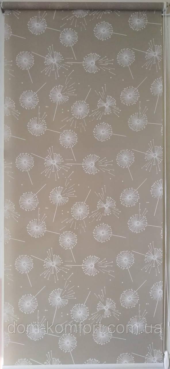 Рулонные шторы Ткань Одуванчик Орех (Квиты 5428/2)