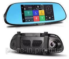 Зеркало-регистратор К36 Android 2 камеры Wi-Fi GPS