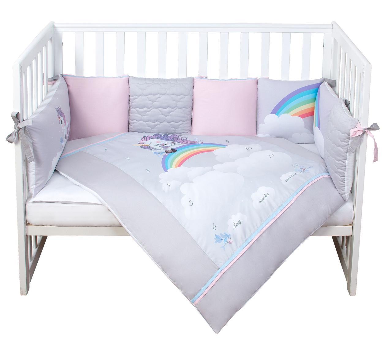Постельный комплект для новорожденных  Veres Unicorn love