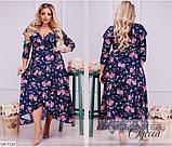 Стильное платье    (размеры 46-66) 0217-53, фото 2