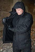 Куртка зимняя на флисе М65 черная, фото 1