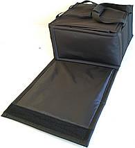 Термосумка для доставки пиццы двойная черная застёжка липучка, фото 3
