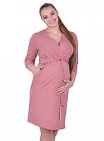 Халат для беременных и кормящих 25305, кофейный, фото 1