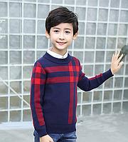 Стильний теплий светр для хлопчика / Детский свитер зимний теплый,  одежда из хлопка свитер для мальчиков
