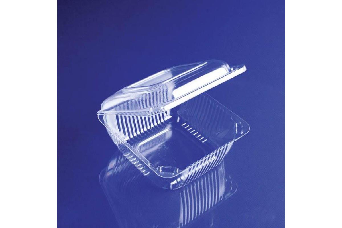 Одноразовый контейнер с крышкой 550мл 450шт для еды ИП-9Н 13*13*7,5см