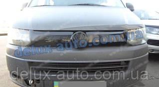 Зимняя накладка на решетку глянец на Volkswagen T5 рестайлинг 2010-2015 гг.