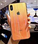 Чехол Glass Shine для Iphone 6 Yellow-Orange