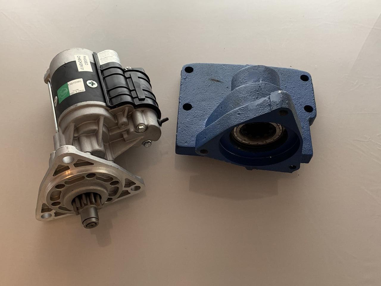 Комплект переоборудования МТЗ, ЮМЗ, Т-150, НИВА под стартер   переходник усилений, стартер Slovak 3.5квт