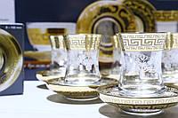 """Подарочный Набор Для Турецкого Чая 6 стаканов + 6 блюдец """"Барокко"""" (EAV63-561/4201/S), фото 1"""