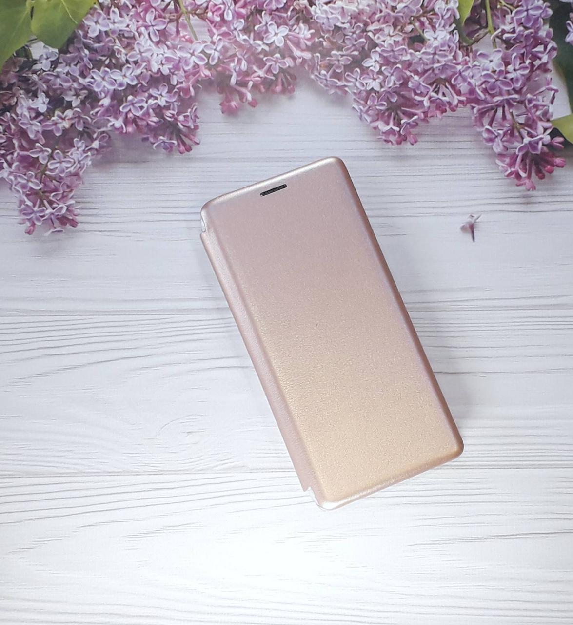 Чохол (книжка) з візитницею для Samsung A9 (18), Rose Gold