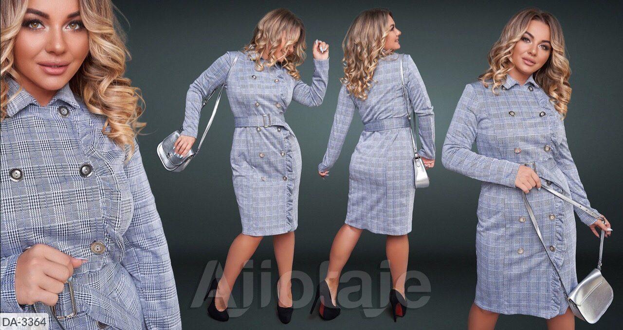 Стильное платье    (размеры 48-54) 0217-68