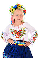 Детская вышиванка «Васильки» на рост 130-140 см