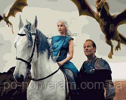 Картина по номерам Brushme Дейенерис Повелительница драконов (PGX28942) 40 х 50 см