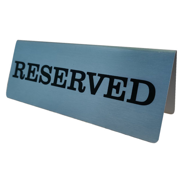"Табличка металлическая ""reserved"""