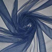 Сетка трикотажная прозрачная мягкая синяя ш.150 ( 14330.001 )
