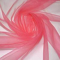 Сетка трикотажная прозрачная мягкая ярко-розовая ш.150 ( 14330.003 )