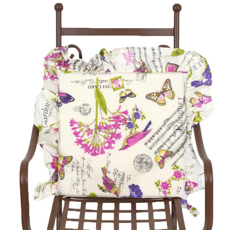 Подушка для стільця декоративна Іспанія Emilia Arredamento Музичні нотки 40х40 см