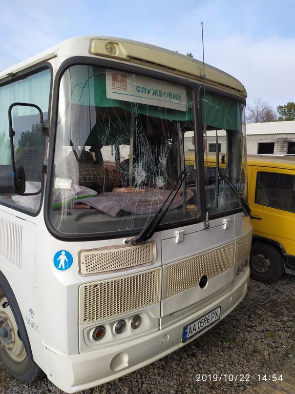 Производство и замена лобового стекла триплекс на автобусе ПАЗ 4234 Мрия в Никополе (Украина).