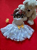 Платье девочке натуральная подкладка, гипюр, органза Сукня дівчинці пишна на блискавка органза гіпюр підкладка