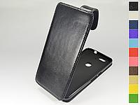 Откидной чехол из натуральной кожи для Huawei Nexus 6P