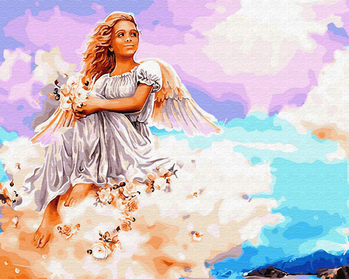 Рисование по номерам Ангел на облаке BK-GX29953 Brushme 40 х 50 см (без коробки)