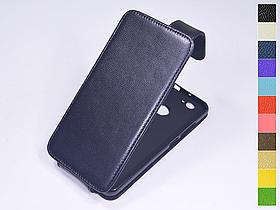 Откидной чехол из натуральной кожи для Huawei Nova