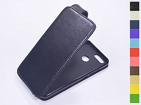 Откидной чехол из натуральной кожи для Huawei Nova 2