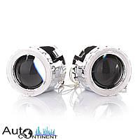 """Автомобильные линзы InfoLight  G5 Super 2.5"""" с LED ангельскими глазками, ближний + дальний свет"""