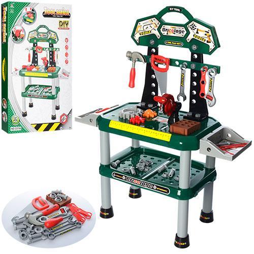 Пластиковый детский набор инструментов 2211A для мальчиков от 3 лет 74 детали