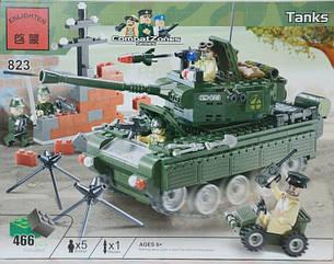Конструктор BRICK 823 танк, развивающая игрушка, подарок для ребенка