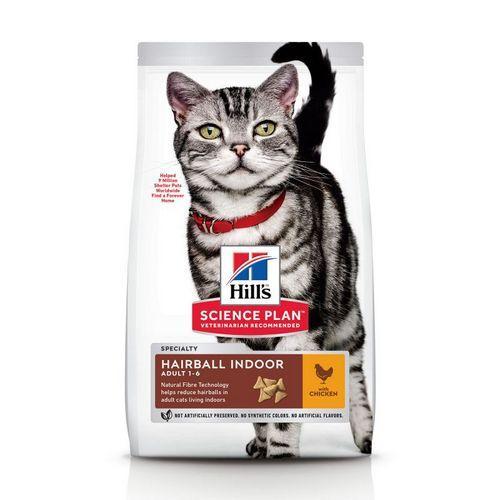 Корм для котів (Хілс) Hills Science Plan Feline Hairball & Indoor Adult 10 кг для дорослих кішок від шерсті