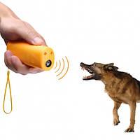 Электронный ультразвуковой отпугиватель собак c фонариком AD-100 yellow