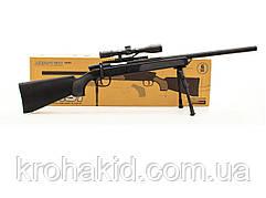 Детский автомат Airsoft Gun ZM51 снайперская винтовка с пульками и прицелом