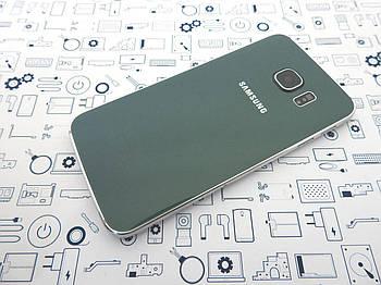 БУ. Samsung S6 Edge G925F корпус крышка задняя зеленая Orig