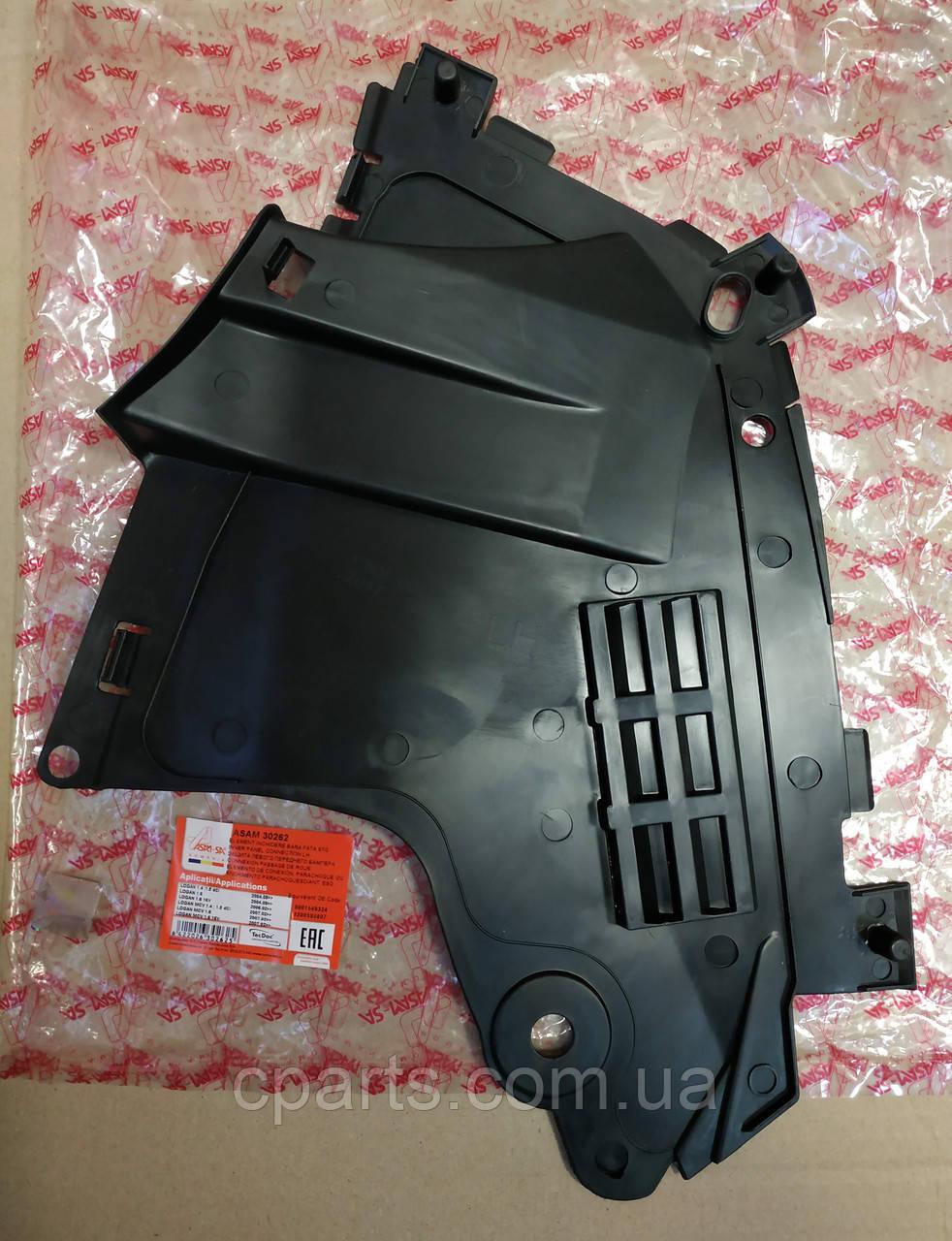 Защита бампера левая Dacia Logan MCV (Asam 30262)(среднее качество)