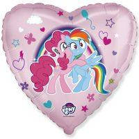 Шар фольгированный сердце Маленькие Пони Flexmetal (Испания)