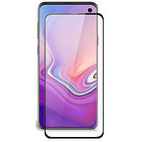 Черное защитное стекло 3D 9H (full glue) для Samsung Galaxy S10e