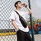 Мужская Сумка Слинг Однолямочная Через Плечо (EW1777) Искусственная Кожа Черная, фото 9